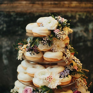Donut cake on Paper & Lace