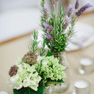 Eclectic glass centerpieces
