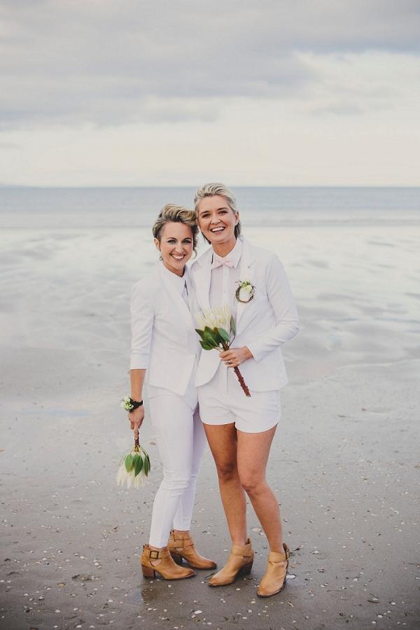 Stylish Same Sex Matakana Beach Elopement Jodie C Photography