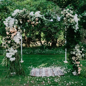 Modern Wedding Arch With Flowers