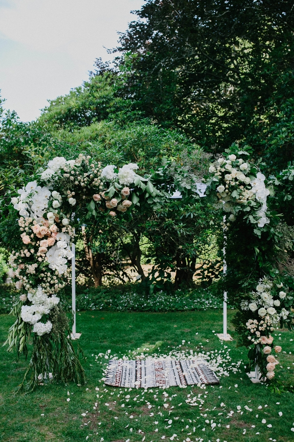 Modern Wedding Arch With Flowers