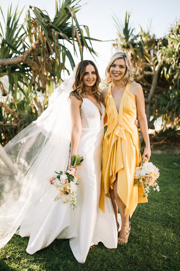 bride-and-bridesmaid-in-yellow