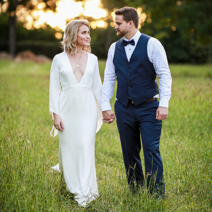 Country Wedding Newlyweds