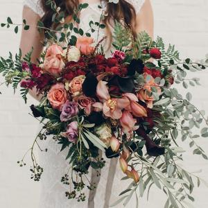 Lush Dark & Moody Wedding Bouquet