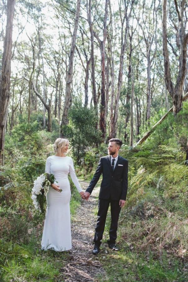 Modern Bridal Couple