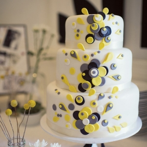 Grey & Yellow Wedding Cake