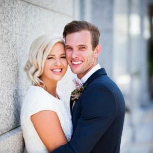 Gorgeous Couple for their Garden Wedding
