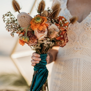 Wild orange bridal bouquet