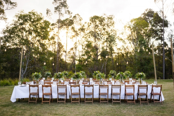 Outdoor Reception With Long Tables