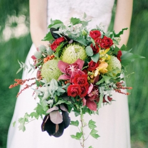 Red & Green Bouquet