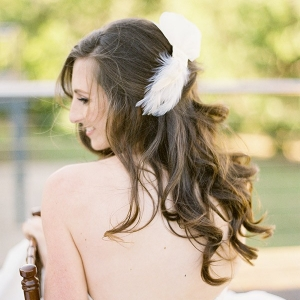 Bride With Feather Hair Clip