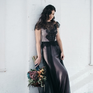 Elegant Black Wedding Dress