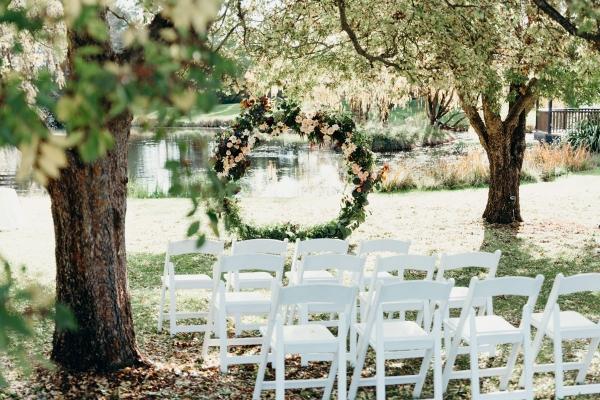 Round ceremony arch