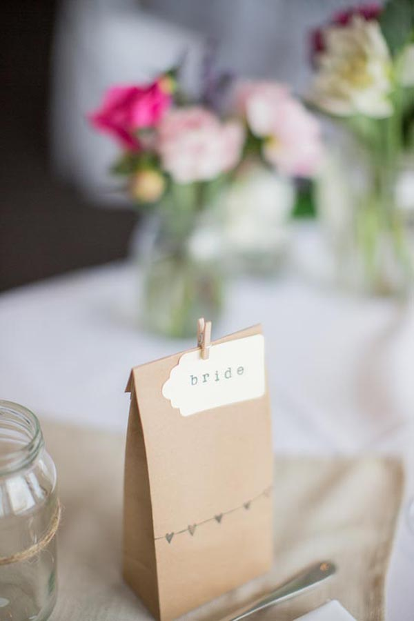 Brown Paper Bag Wedding Favor