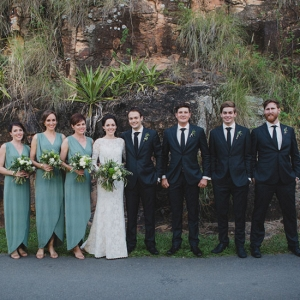 Bridal Party With Sage Green