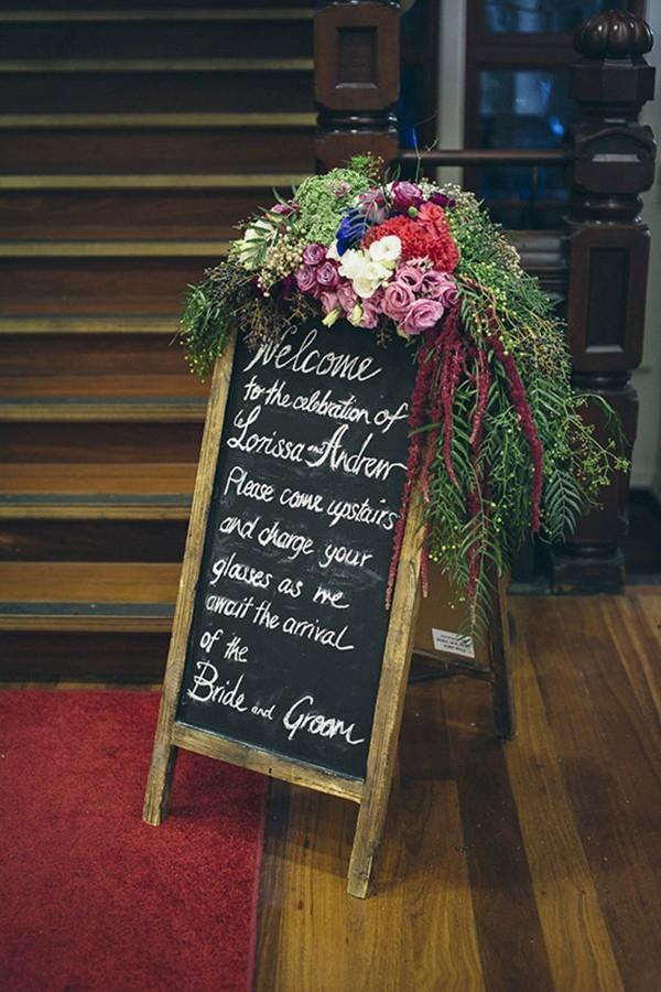 Chalkboard Wedding Welcome Sign