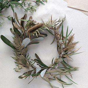 Gold Leaf Flower Crown