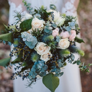 Eucalyptus And Rose Bouquet