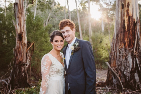 Winter Wedding Newlyweds
