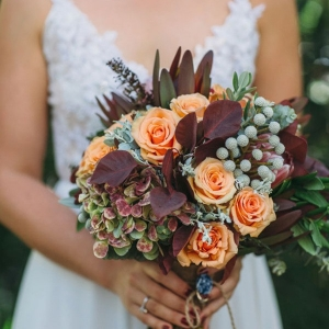 Marsala and Orange Bouquet