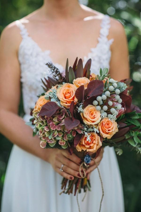 Marsala and Orange Bouquet
