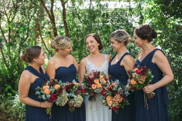 The Bride with the Bridesmaids