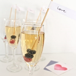Berry Champagne Swizzle Sticks