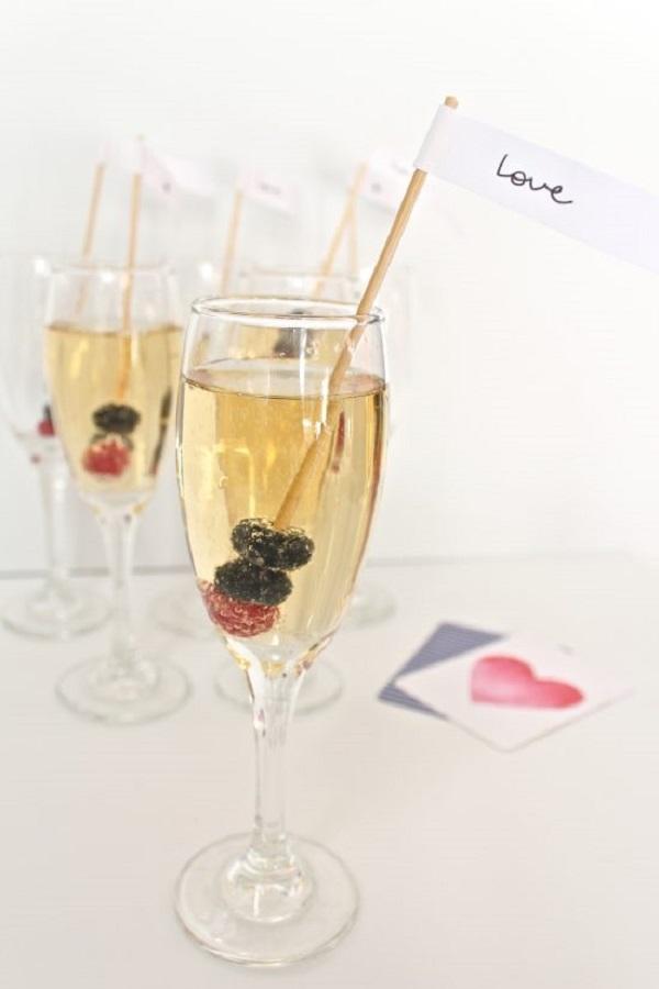 Berry Champagne Swizzle Sticks