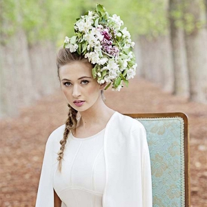 Avante Garde Floral Hairpiece