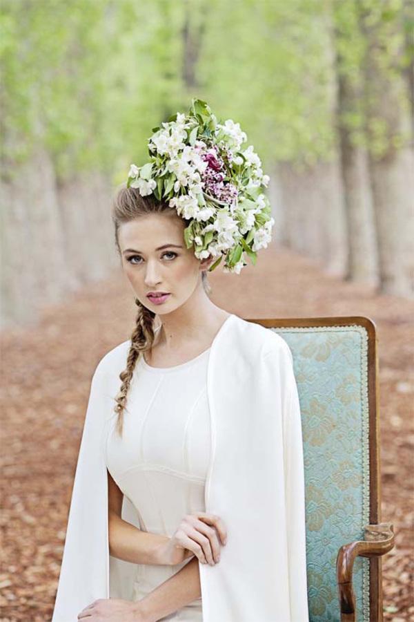 Avante Garde Floral Hairpiece