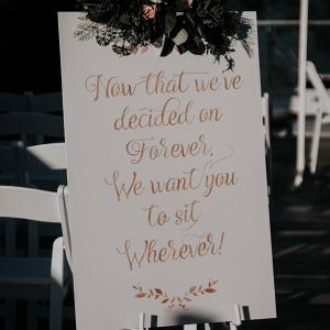 Handpainted wedding sign