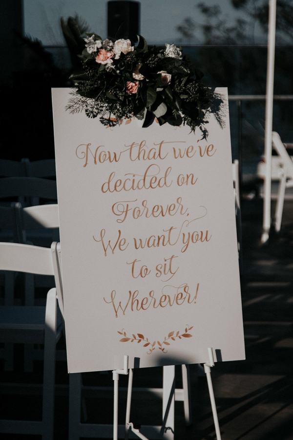 Handpainted wedding sign