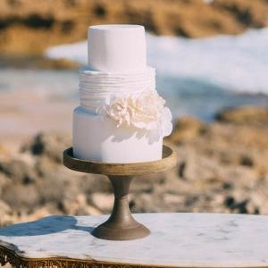 Tiered Bohemian Style Wedding Cake