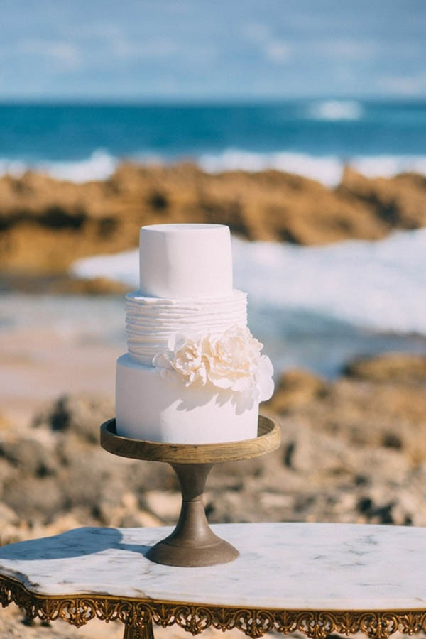 Tiered Bohemian Style Wedding Cake