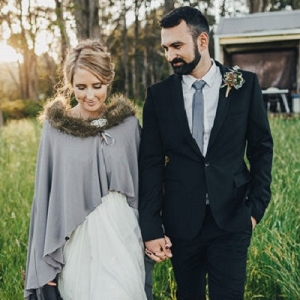 Australian Newlyweds At Country Wedding