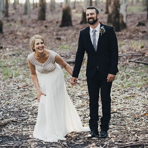 Laughing Newlyweds