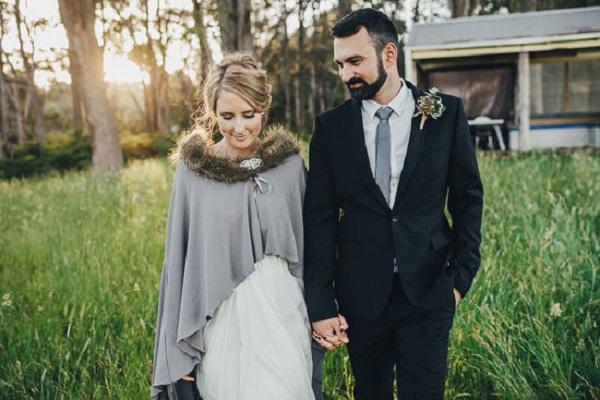 Australian Newlyweds At Country Wedding