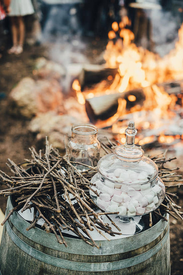 Bonfie And Marshmallows At Wedding