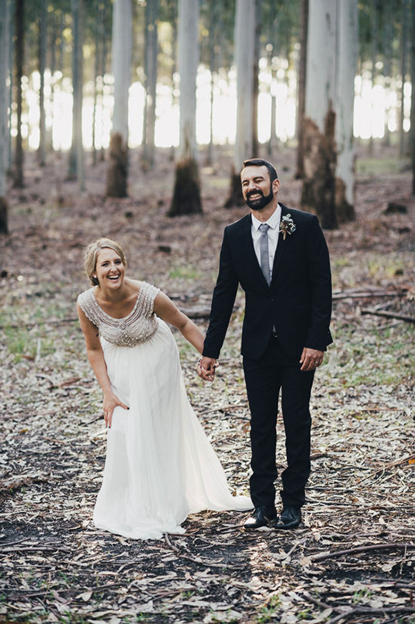 Laughing Newlyweds