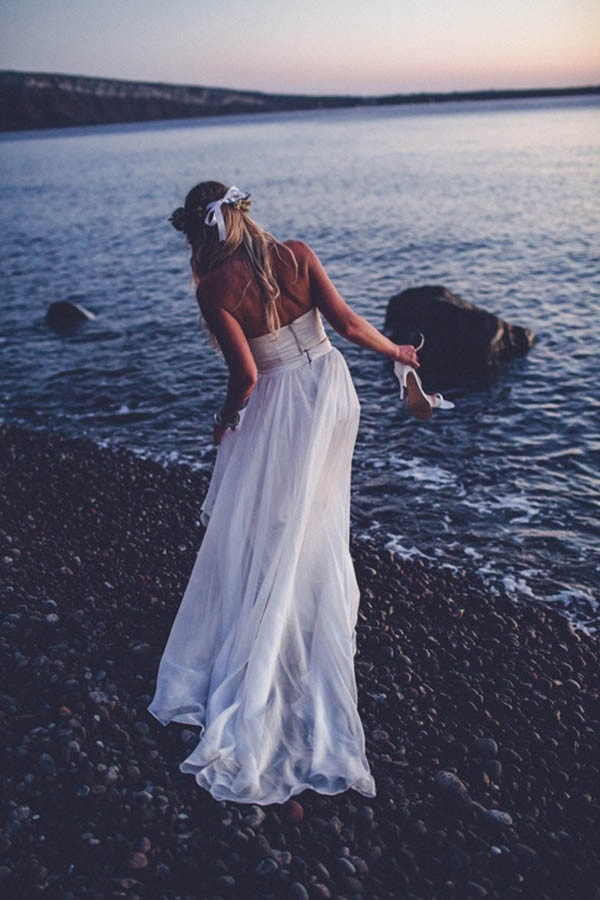 Bride In Santorini