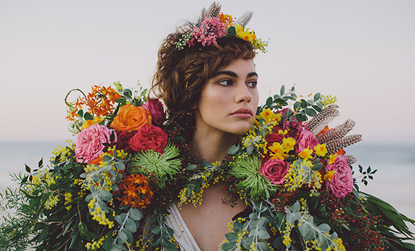 Bridal With Flower Cape