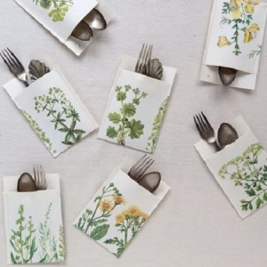 Botanic Paper Cutlery Holder Tutorial