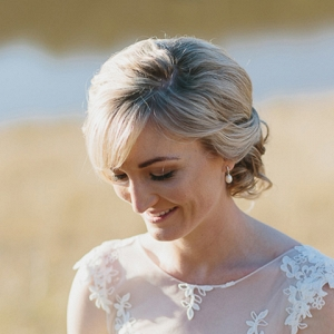Bride In Country Wedding