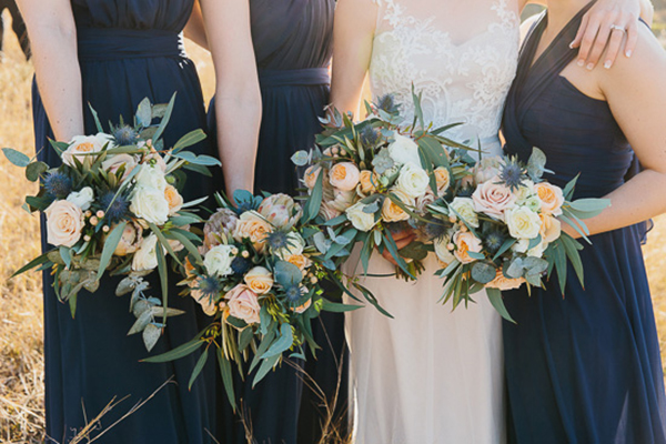 Bride And Bridesmaid With Eucalyptus Bouquets