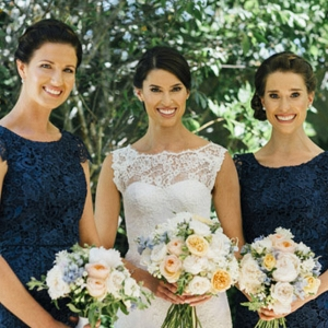 Bride & Bridesmaids At Spring Wedding