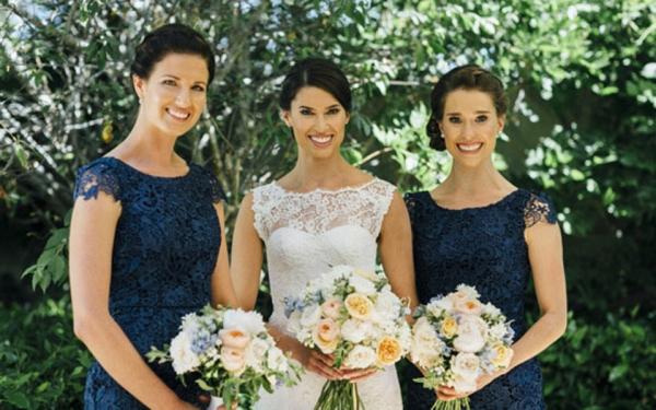Bride & Bridesmaids At Spring Wedding