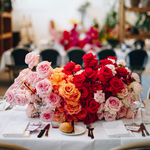 Colorful rose centerpiece