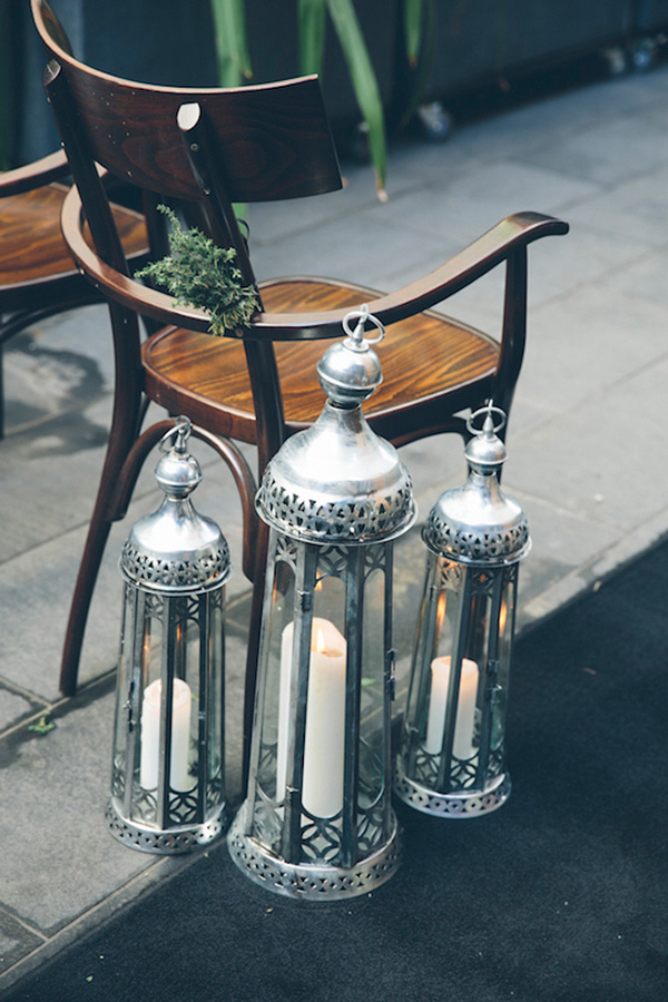 Silver Candle Lanterns