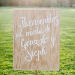 Pine Wedding Sign