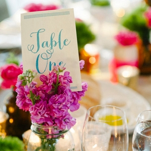Bright Wedding Tablescape